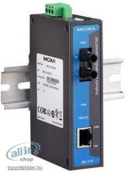 Moxa IMC-21A-M-ST - Fiber média átalakító - 100Mb LAN - 10Base-T, 100Base-FX, 100Base-TX - RJ-45 / S