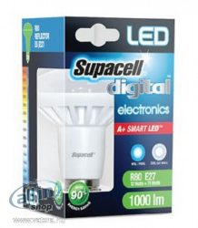 Supacell A+ okos LED Izzó E27 R80 Coll white 1000 lumen