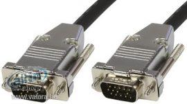 MicroConnect SVGA HD15 15m Metal Fekete kábel