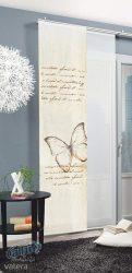 Home Fashion 87480-718 Dekoratív átlátszó tolószövet függöny, digitális nyomtatással 245 x 60 cm