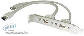 Lindy 33124 USB / FireWire konzol PC-hez, szürke