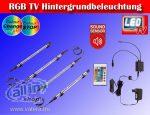 """Trango LED Többszínű RGB TV Háttérvilágítás 24-50 """" ,hangérzékelővel,távirányítóval"""