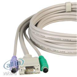 Lindy Premium KVM Combo-, Billentyűzet / video / egér kábel, PS / 2, HD-15 (VGA) 1M