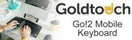 Goldtouch GTP-0044GE Go! 2 Bluetooth vezeték nélküli mobil billentyűzet[német elrendezés]