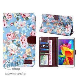 """Apexel - Bőr tok hitelkártyatartóval, jó minőségű, virágos minta Samsung Tab 4 7.0"""""""