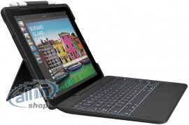 """Logitech Slim Combo Apple iPad 5./6. Generation DE Billentyűzetes Tok 9.7"""" Fekete"""