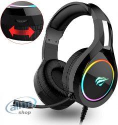 Havit RGB vezetékes GAMER -fejlhallgató