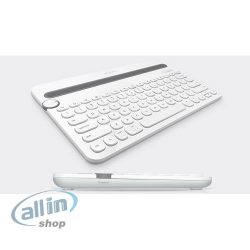 Logitech Multi-Device K480 fehér német bluetooth mobil billentyűzet