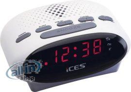 ICES ICR-210 rádió ébresztőóra FM fehér
