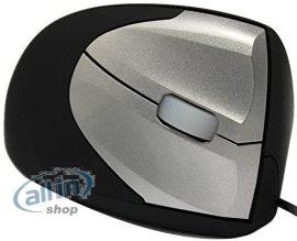 Minicute M0010203 EZmouse vezetékes 2 jobbos ergonómikus függőleges optikai egér fekete / szürke