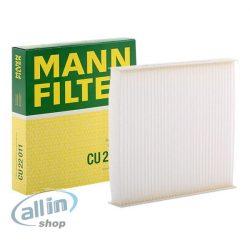 MANN-FILTER Szűrő, utastér levegő