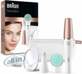 Braun FaceSpa 851 3 az 1-ben arcápoló szett ,arctisztító ,epilátor  és masszírozó kefe, fehér